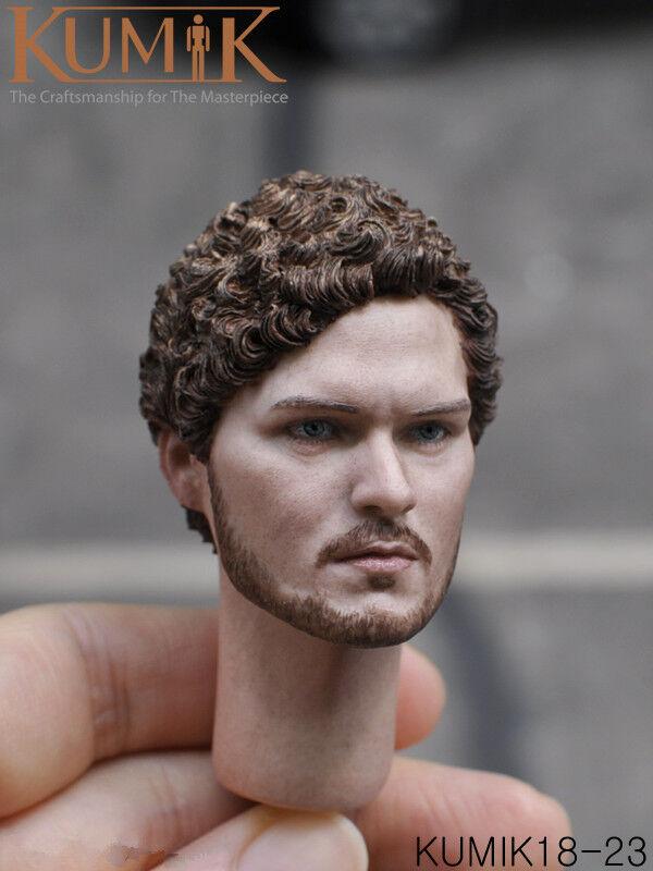 KUMIK 1 6 Male Male Male   Female Head Sculpt Head Carved Model For 12'' Action Figure f0195e