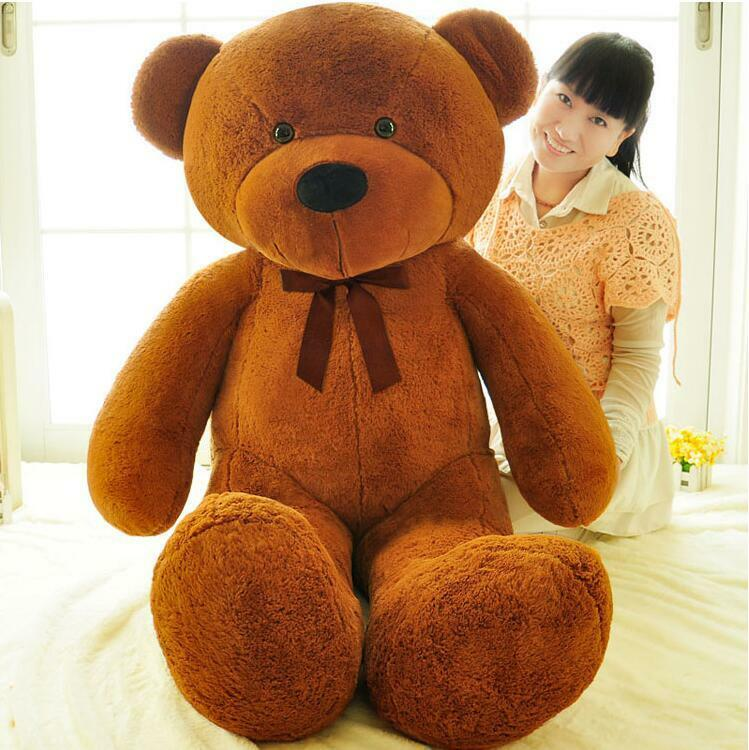 Hot Large marrone Teddy Bear Plush Toy Big Stuffed Soft Animal Birthday Gift 160cm