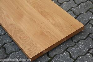 Tischplatte Regalbrett Platte Eiche Massiv Holz Leimholz Brett NEU  Waschtisch Tische