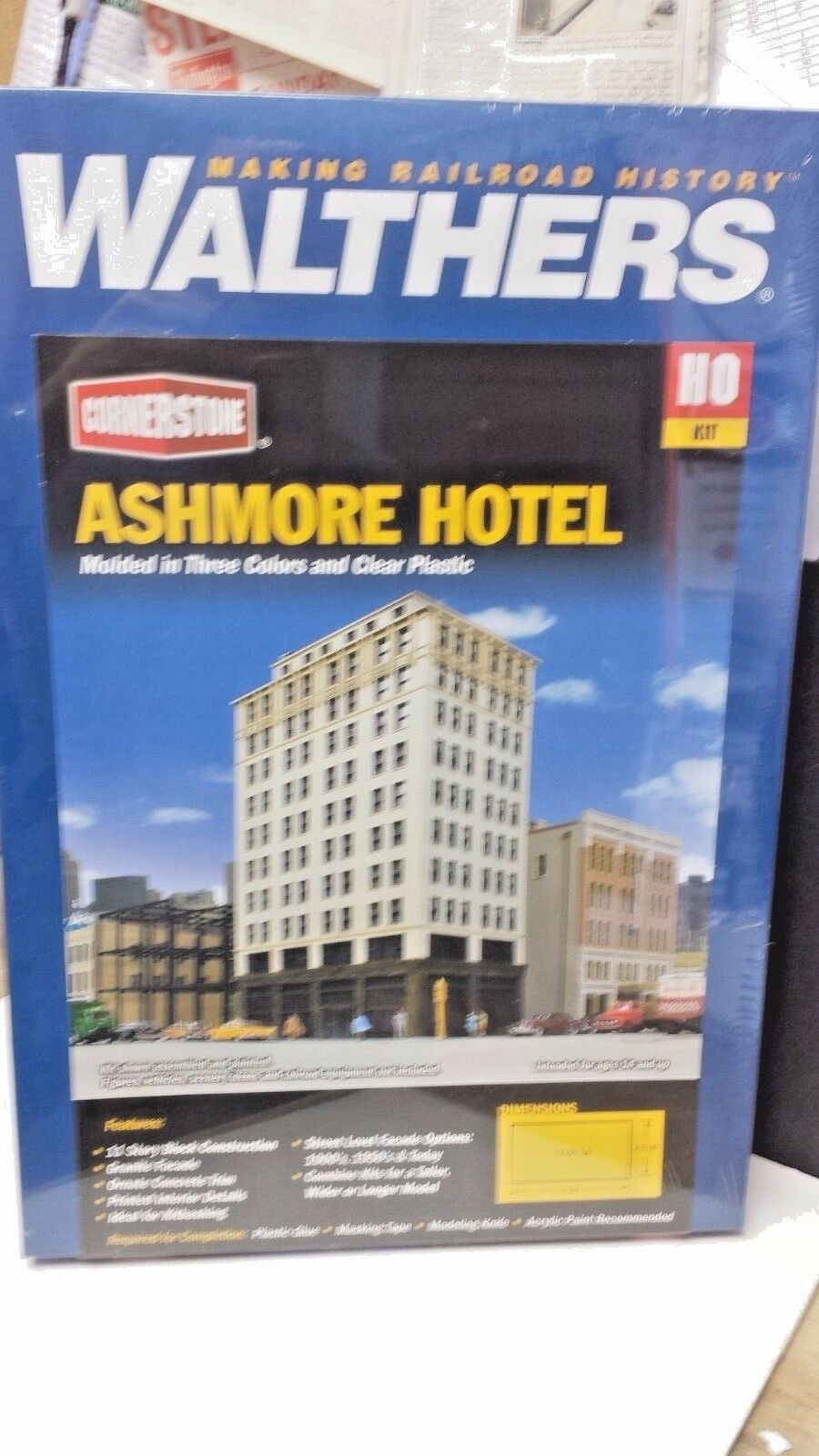 Ashmore Hotel Tower  Walthers Model Railroad building kit 933-3764