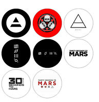 Set Of 8 Thirty 30 Seconds To Mars Band 1 Pins Button Magnets Alternative Rock