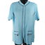 Misook-Light-Blue-Stretchy-Front-Pockets-Zip-Up-Top-Women-039-s-Size-Medium miniatuur 1