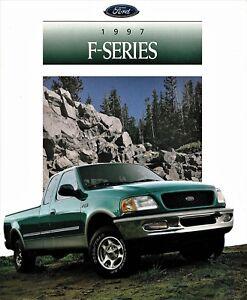 Details About 1997 Ford F Series F 150 F 250 Xl Xlt Lariat Flareside Trucks Sales Brochure