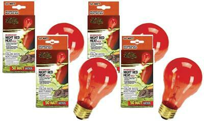 4 Pack Zilla Incandescent Bulb Night Red Heat 50 Watt