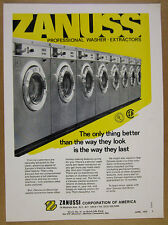 1972 Zanussi Professional Washer Coin-Op machine Laundromat vintage print Ad