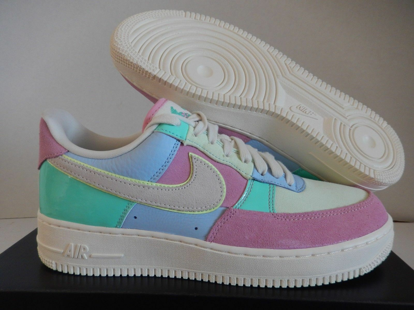 Nike Air Force 1 '07 QS Sz 18 Easter 2018 AH8462-400 AF1 Patchwork Limited NSW