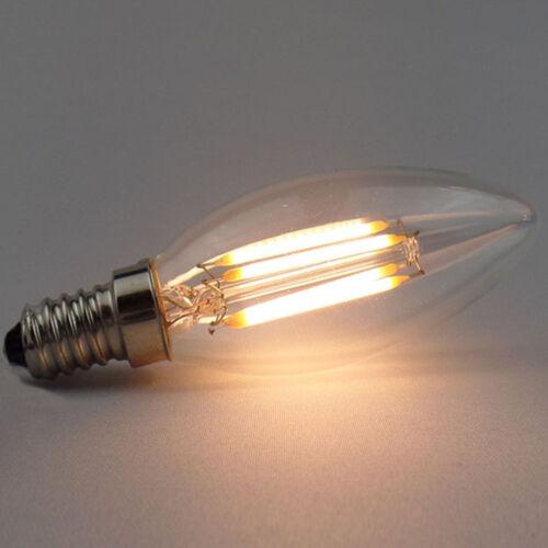 Dimmable 2W 4W 6W 8W 110V 220V 12V E27 E14 LED Filament Candle Bulb Lamp Light