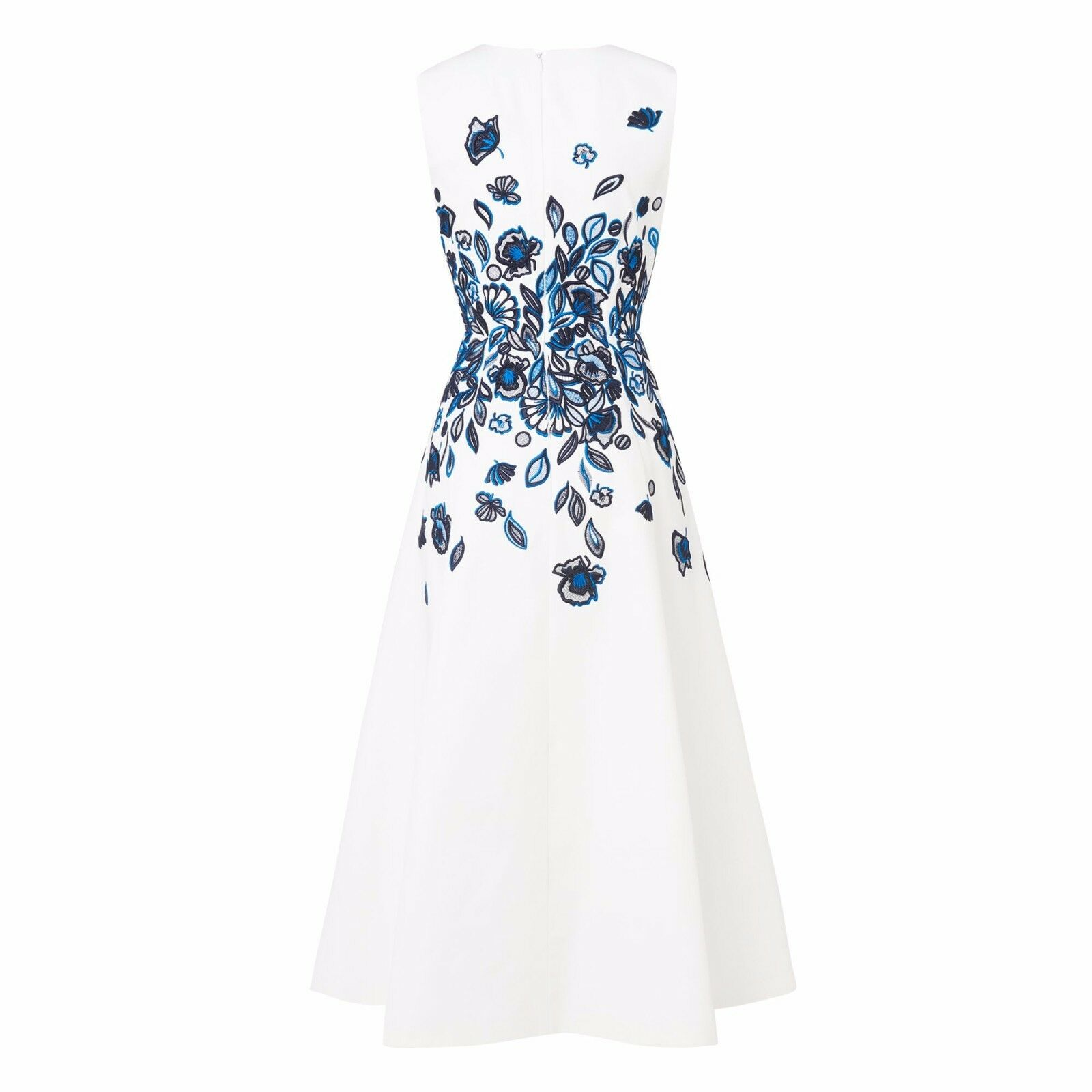 L.K.Bennett Corin Embroidered Dress bluee