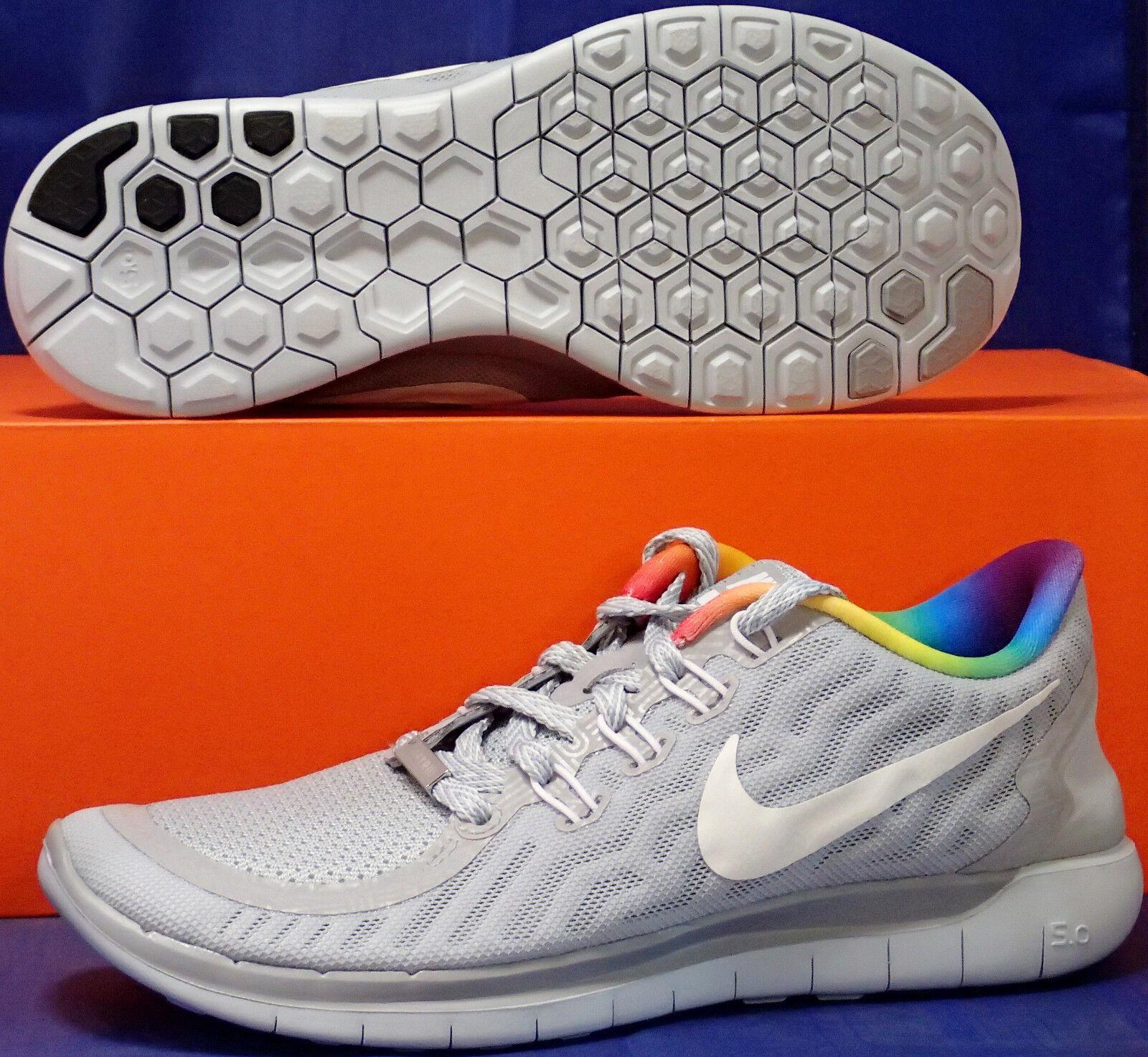 Womens Nike Free 5.0 Be True Rainbow LGBT BT SZ 6.5 ( 745383-001 )