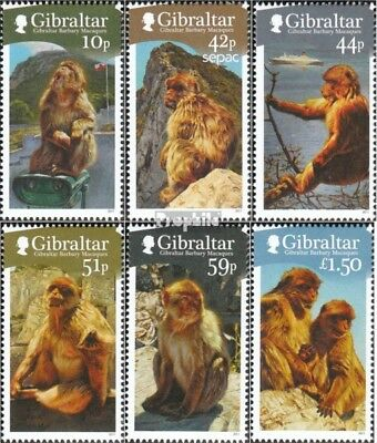 Stamps Gentle Gibraltar 1437-1442 Mint Never Hinged Mnh 2011 Berberaffen Stamps