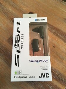 Details about JVC Gumy Sport Bluetooth Wireless Sweat Proof Headphones HA- F250BT-B 130d0402e9