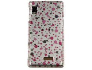 Durable-Plastic-Design-Phone-Cover-Polka-Stars-For-Motorola-Droid-A855