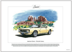 American Classics - CHEVROLET CAMARO '68 - Fine Art Print - US Muscle Car  SS396