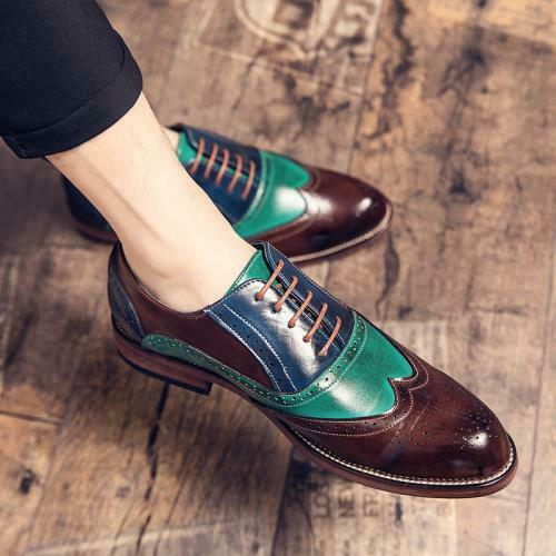 Brogue Men Dress Formal Business Leisure Shoes Carved Work Oxfords Work Casual L