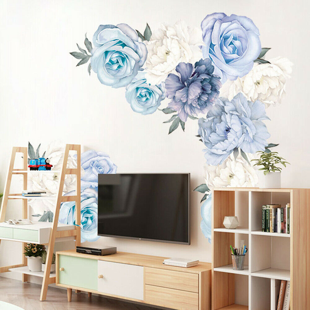 Removable Rose Flower Wall Stickers Mural  Art Decal Home Living Room Decor DIY,
