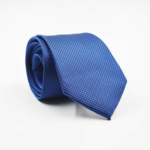 Mens Silk Fashion Classic Tie Party Suit Spot Stripe Plain Party Wedding Necktie