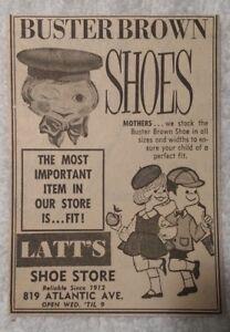 scarpe Pubblicit 1964 Shoes Brown Buster Atlantic di Nj City Negozio Latt's np6BpSXvw