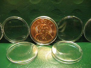 10-Copper-Silver-Round-Capsules-39MM-snap-lock-acrylic-034-Protect-Your-Investment-034