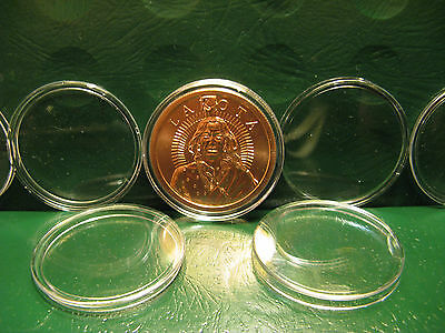"""24 Copper//Silver Round Tubes USED /""""Protect Your Investment/"""" Fits 1 oz Rounds"""