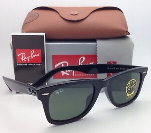 feafd6ce3f New RAY-BAN WAYFARER Sunglasses RB 2140-F 901 52-22 Black Frame w ...