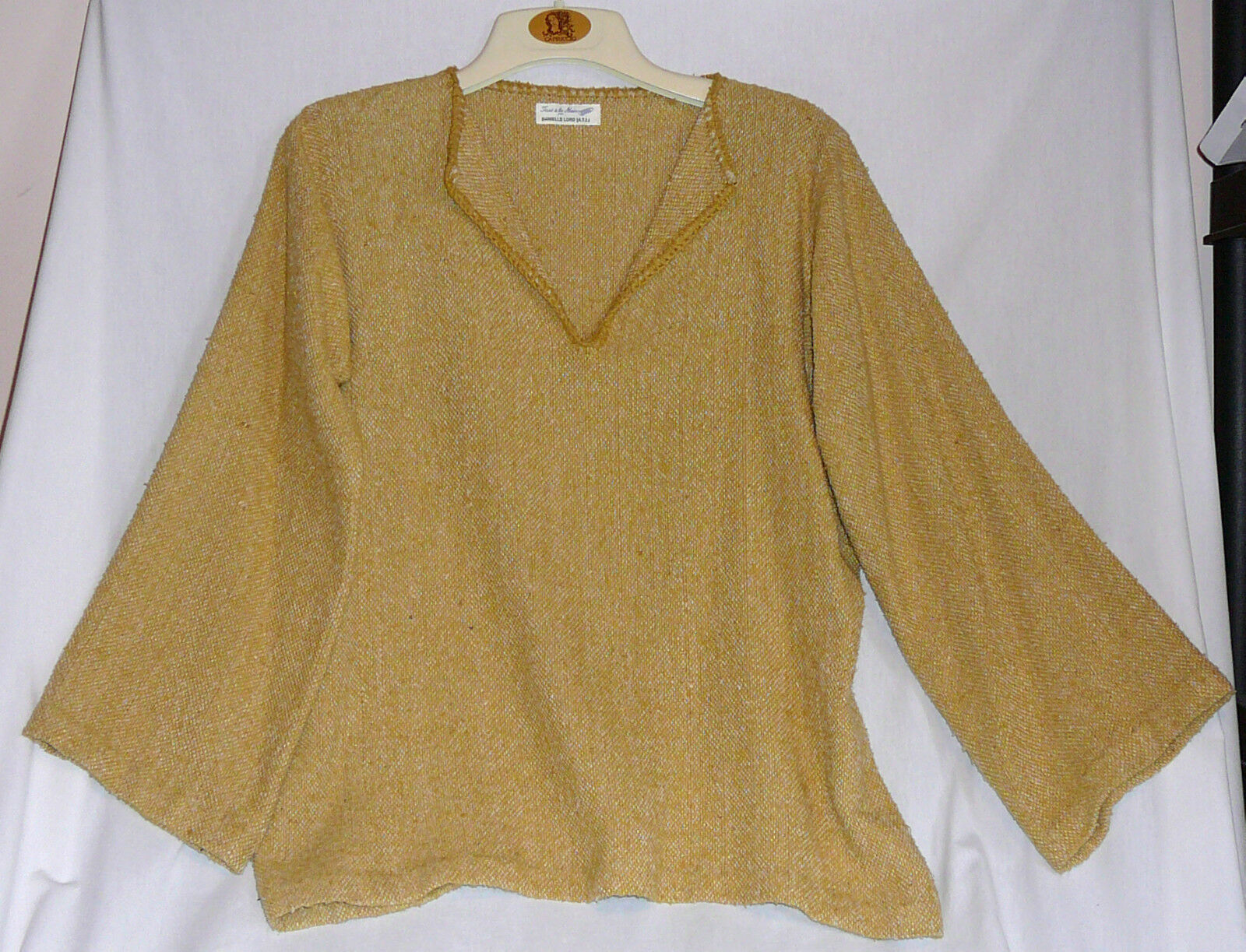 Hand woven fabric tunic. Purchased in Old Montreal at L'Empreinte Cooperative