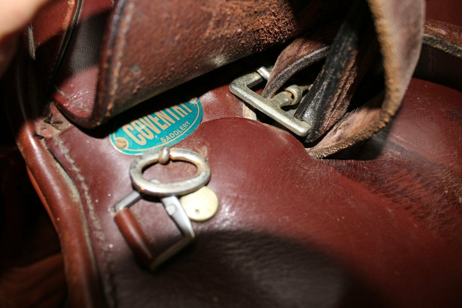 COVENTRY  MADE IN ENGLAND ENGLAND ENGLAND    rossodish Marroneee English Saddle Dimensione 16  c6f5f3