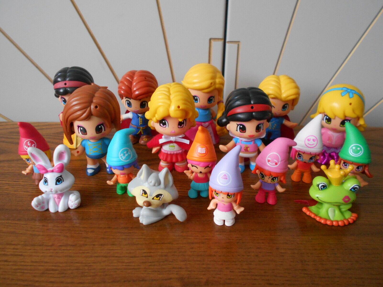 PINYPON lot of dolls and accessories ELF x 7 Prince x 2 RAPUNZEL 15 dolls 3 pets