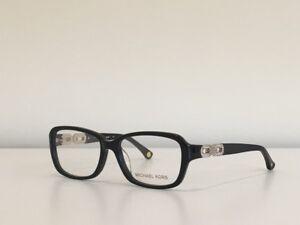 c036ae12ac6 28 Michael Kors MK 863 001 Rectangle Black Crystals Eyeglasses Frame ...