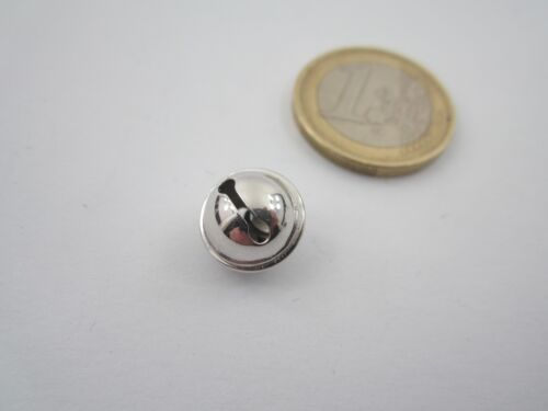 1 ciondolo charms campanellino in argento 925 rodiato di 11x9 mm made in italy