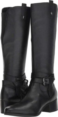 Naturalizer Womens Kim Leather Stacked Riding Boots
