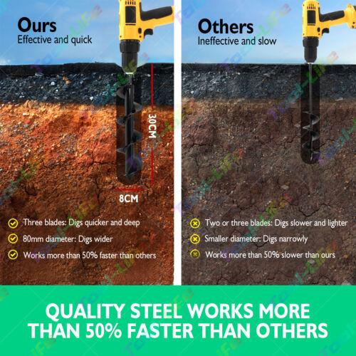 Garden Auger Power Earth Shaft Spiral Drill Bit Planter Post Hole Digger 24/'/' US
