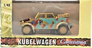 Kubelwagen-1-43-Scale-Military-Vehicle-Camo-Style-WWII-Cararama-Free-Shipping