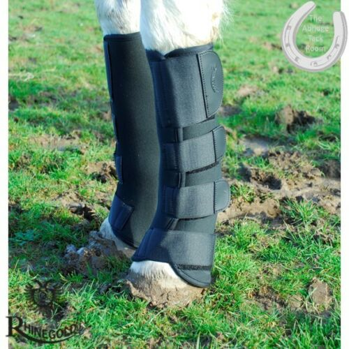 Rhinegold Breathable Neoprene Turnout Boots Mud Fever Defence Ventilated