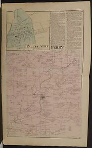 Ohio Brown County Map Perry 1876 Dbl Pg W9 39 Ebay