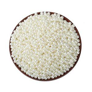 Lot-50-Perle-imitation-5mm-Blanc-Casse-Pour-vos-creation-Bijoux-Collier-Bracelet