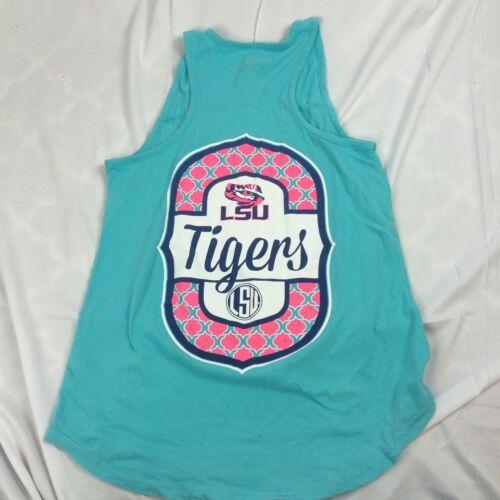 Womens M L LSU Tank Top T Shirt Football Basketball Baseball Soccer Louisiana