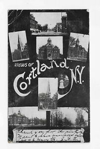 Vintage-Postcard-VIEWS-OF-CORTLAND-NY-1907-7-Different-scenes