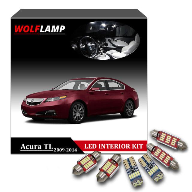10Pcs White LED Interior Kit Car Lights For 2009-2014