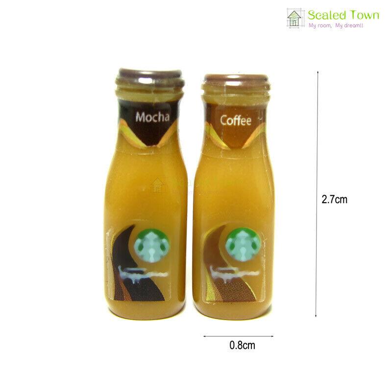 2x coffee mocha drink bottles