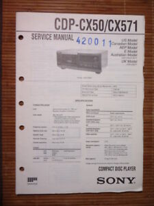 Service-manual Sony Cdp-cx50/cx571 Cd-player,original Tv, Video & Audio