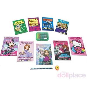 Details about Mini Crayons & Coloring Books Activity Set Accessories fit 18  American Girl Doll
