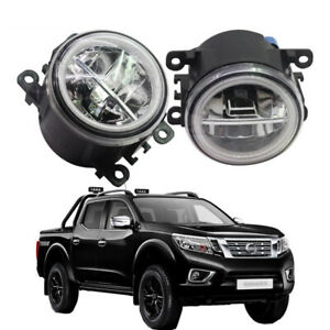 LED-Fog-Light-Angel-Eye-Rings-Daytime-Running-Lights-DRL-Fit-For-Nissan-Navara
