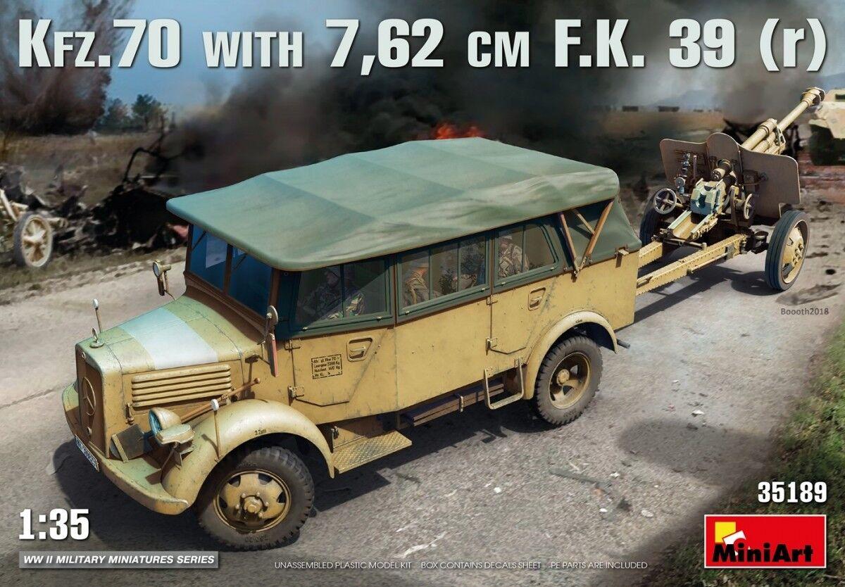 barato y de moda Kfz.70 & 7,62 Cm F.K. 39 ( R ) Kit Kit Kit MINIART 1 35 MA35189  popular