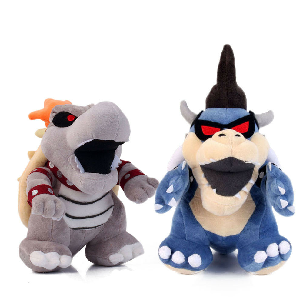 Super Mario Bros. Dry Dry Dry Bowser Bones and Dark Bowser Koopa Plush Doll Baby Toys 3e05b8