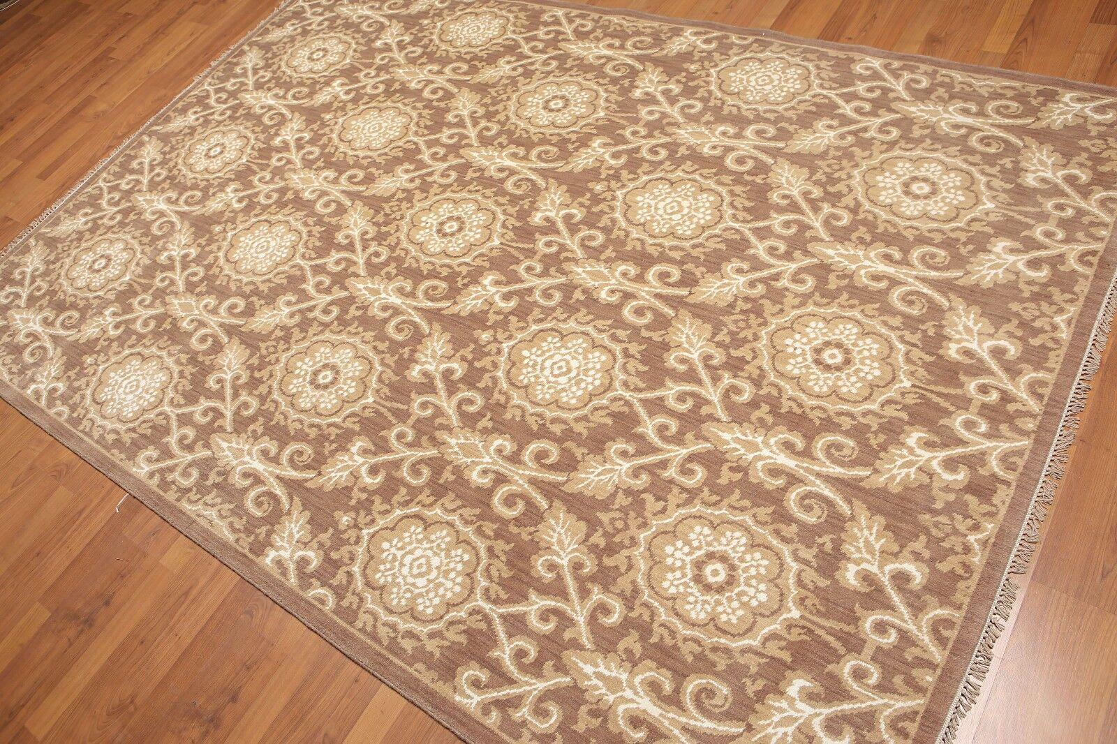 Hand Knotted Damask Wool Bamboo Silk