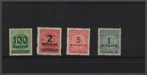 1923 Deutsches Reich inflazione marchi Fresco Posta