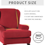 Wing-Chair-Cover-Elastic-Armchair-Sofa-Chair-Cover-Stretch-Protector-Slipcover miniature 3