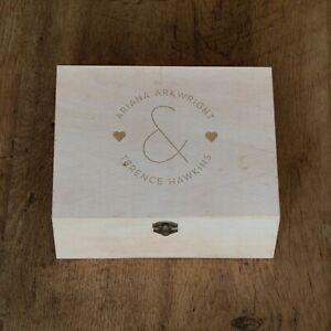 Personalised-Engraved-Wooden-Keepsake-Box-Mr-and-Mrs-Design-Couples-Wedding