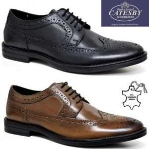MENS-REAL-LEATHER-LACE-UP-CASUAL-OFFICE-SMART-LONDON-FORMAL-BROGUES-SHOES-SIZE