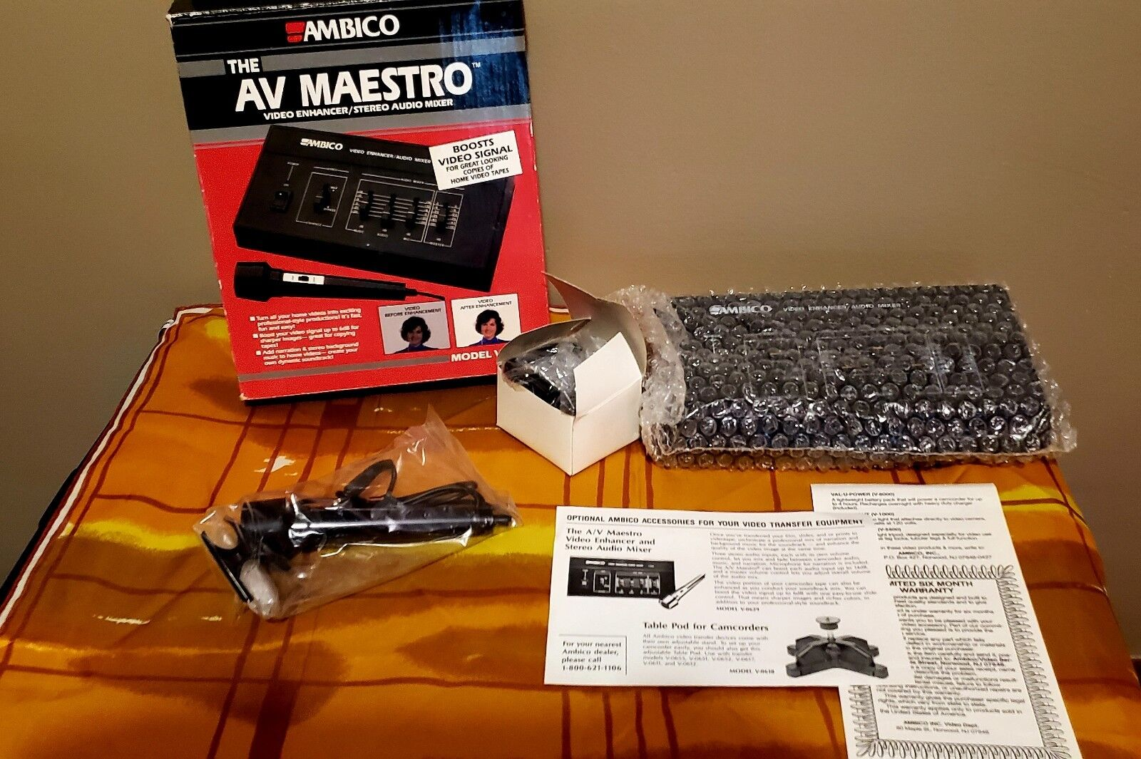 Ambico Av Maestro V0629 Video Enhancer Stereo Audio Mixer Reasonable Price Audio For Video